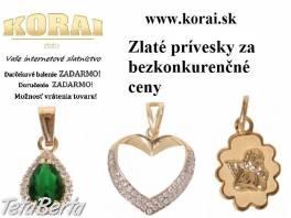 Zlaté prívesky od KORAI , Móda, krása a zdravie, Hodinky a šperky    Tetaberta.sk - bazár, inzercia zadarmo