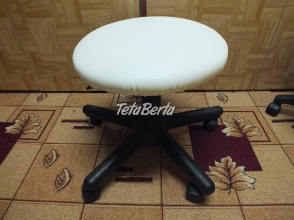Predám otočnú stoličku, bielu., foto 1 Dom a záhrada, Záhradný nábytok, dekorácie | Tetaberta.sk - bazár, inzercia zadarmo