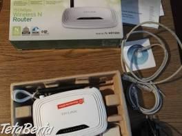 Predám bezdrátový wi-fi router TP-LINK TL-WR740N , Elektro, Sieťové komponenty    Tetaberta.sk - bazár, inzercia zadarmo