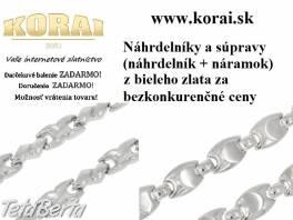 Náhrdelníky a súpravy z bieleho zlata od KORAI , Móda, krása a zdravie, Hodinky a šperky  | Tetaberta.sk - bazár, inzercia zadarmo