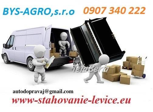 Sťahovanie-autodoprava-Levice, foto 1 Obchod a služby, Preprava tovaru   Tetaberta.sk - bazár, inzercia zadarmo