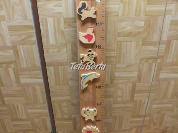 Drevený detský meter na stenu., foto 1 Pre deti, Ostatné | Tetaberta.sk - bazár, inzercia zadarmo