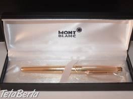 Zlaté plnící pero Mont Blanc , Móda, krása a zdravie, Hodinky a šperky    Tetaberta.sk - bazár, inzercia zadarmo