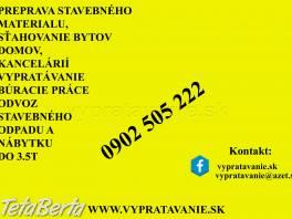 Vnútroštátna preprava a sťahovanie  , Obchod a služby, Preprava tovaru    Tetaberta.sk - bazár, inzercia zadarmo