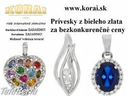 Prívesky z bieleho zlata od KORAI , Móda, krása a zdravie, Hodinky a šperky  | Tetaberta.sk - bazár, inzercia zadarmo