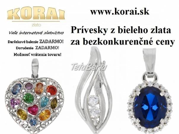 Prívesky z bieleho zlata od KORAI, foto 1 Móda, krása a zdravie, Hodinky a šperky | Tetaberta.sk - bazár, inzercia zadarmo