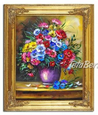 KYTICE - 4 - olejomalba na plátně - bohatě zdobený rám 630x530mm , foto 1 Hobby, voľný čas, Umenie a zbierky | Tetaberta.sk - bazár, inzercia zadarmo