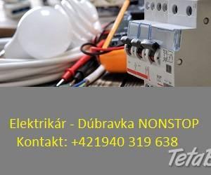 Elektrikár Bratislava + okolie, foto 1 Elektro, Servis a inštalácia | Tetaberta.sk - bazár, inzercia zadarmo