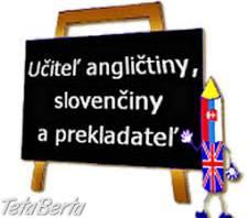 Slovak  and English lessons , Obchod a služby, Kurzy a školenia  | Tetaberta.sk - bazár, inzercia zadarmo