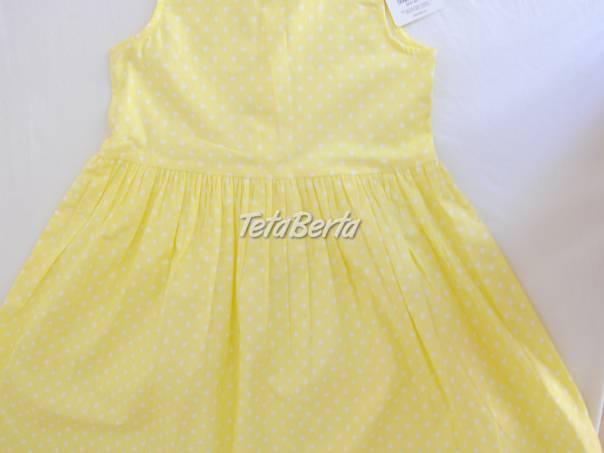 6247383d1920 Predám nové dievčenské klopitkové žlté šaty vel. 122 128 ...