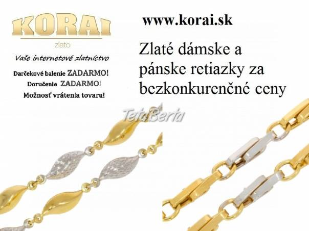 Zlaté retiazky KORAI, foto 1 Móda, krása a zdravie, Hodinky a šperky | Tetaberta.sk - bazár, inzercia zadarmo