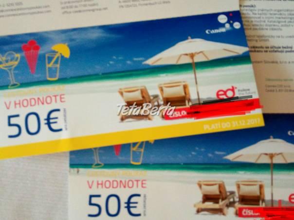 Kupóny v hodnote 100 € za 60 €, foto 1 Hobby, voľný čas, Šport a cestovanie   Tetaberta.sk - bazár, inzercia zadarmo
